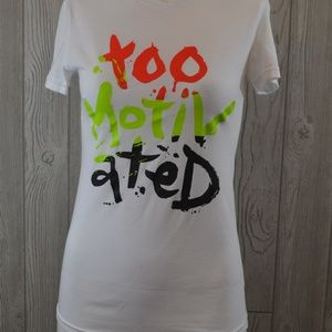 Adidas TOO MOTIVATED T-Shirt TEE Small